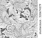 tracery seamless calming... | Shutterstock . vector #520674379