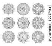 mandalas collection. decorative ... | Shutterstock .eps vector #520674664