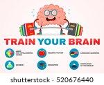 train your brain infographic... | Shutterstock .eps vector #520676440