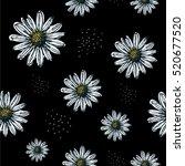 daisy pattern  seamless in... | Shutterstock .eps vector #520677520