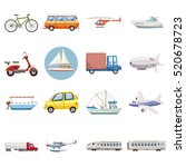 transportation icons set.... | Shutterstock .eps vector #520678723