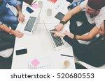 business team of creative... | Shutterstock . vector #520680553