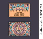vector vintage visiting card... | Shutterstock .eps vector #520685734