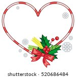 heart shaped frame with... | Shutterstock .eps vector #520686484