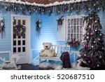 Wooden House Porch Decorated...