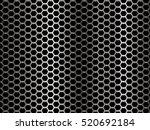 metal background. honeycomb... | Shutterstock .eps vector #520692184
