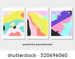 3 abstract geometric vector... | Shutterstock .eps vector #520696060