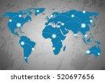 best internet concept of global ... | Shutterstock . vector #520697656