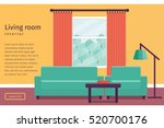 living room interior with... | Shutterstock .eps vector #520700176