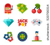 illustration of flat icons on... | Shutterstock . vector #520700314