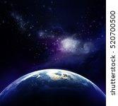 3d rendering  planet earth in... | Shutterstock . vector #520700500