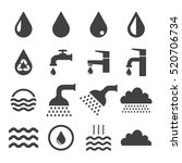water related icons set on... | Shutterstock . vector #520706734