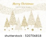 vector merry christmas and... | Shutterstock .eps vector #520706818