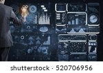 back view of businessman... | Shutterstock . vector #520706956