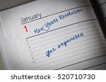 Small photo of Get Organised New Years Resolution in the diary