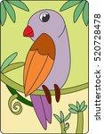 bird illustration for children. ... | Shutterstock .eps vector #520728478