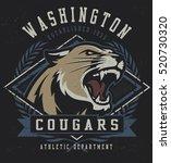 Vintage Cougar Mascot...