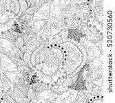 tracery seamless calming... | Shutterstock . vector #520730560