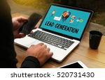 lead generation  business... | Shutterstock . vector #520731430