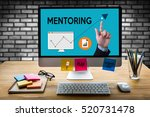 mentoring career growth ... | Shutterstock . vector #520731478