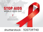 1st december  world aids day... | Shutterstock .eps vector #520739740