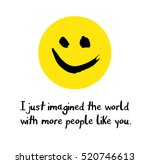 i just imagined the world with... | Shutterstock .eps vector #520746613