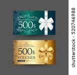 gift certificate design | Shutterstock .eps vector #520746988