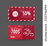 gift certificate design | Shutterstock .eps vector #520746994