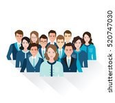 business people isolated on... | Shutterstock .eps vector #520747030