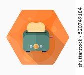 kitchenware grill toaster flat  ...   Shutterstock .eps vector #520749184