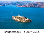 Aerial View Of Alcatraz Island...
