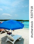umbrella in a caribbean shallow ... | Shutterstock . vector #5207518