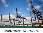 port miami. various ships... | Shutterstock . vector #520752073