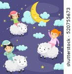 whimsical illustration of... | Shutterstock .eps vector #520755673