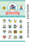 icon set valentinesday vector | Shutterstock .eps vector #520756909