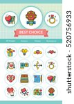 icon set valentinesday vector | Shutterstock .eps vector #520756933
