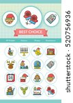 icon set xmas vector | Shutterstock .eps vector #520756936