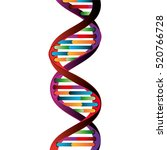 molecular structure of dna | Shutterstock .eps vector #520766728