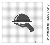 hot proper meal plate vector... | Shutterstock .eps vector #520767340