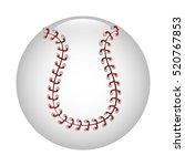 baseball ball icon graphic | Shutterstock .eps vector #520767853