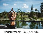 young fit girl practising asana ... | Shutterstock . vector #520771783