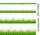 green grass line set element... | Shutterstock . vector #520774900