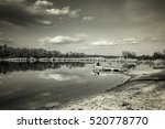 large pond in the forest area   Shutterstock . vector #520778770