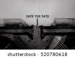 save the date typed words on a... | Shutterstock . vector #520780618