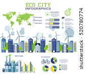 eco city in flat design.... | Shutterstock .eps vector #520780774