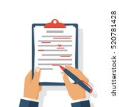 editing documents to correct... | Shutterstock .eps vector #520781428