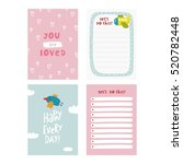 cute planner  cards and... | Shutterstock .eps vector #520782448
