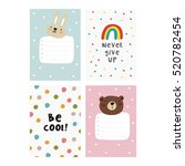 cute planner  cards and... | Shutterstock .eps vector #520782454