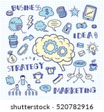 hand drawn business doodle...   Shutterstock .eps vector #520782916
