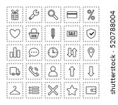 icons e commerce. flat objects  ... | Shutterstock .eps vector #520788004